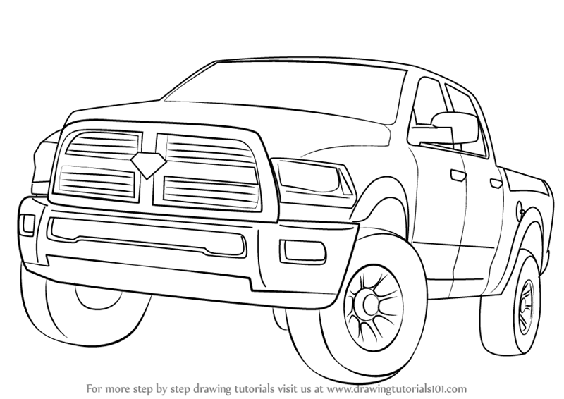 how-to-draw-Ram-Truck-step-0
